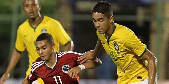 Colombia debutó con derrota frente a Brasil, en el Suramericano Sub 17