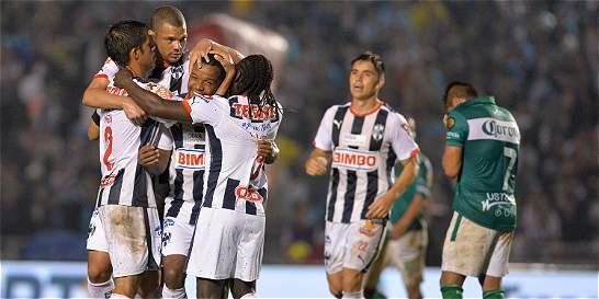 Pabón, Cardona y Chará anotaron en la victoria de Monterrey sobre León