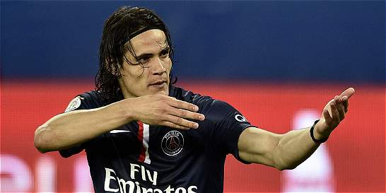 Cavani hizo triplete en la gran goleada de PSG contra Guingamp