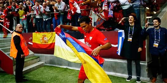 Bacca, segundo colombiano en ganar consecutivamente la Liga de Europa