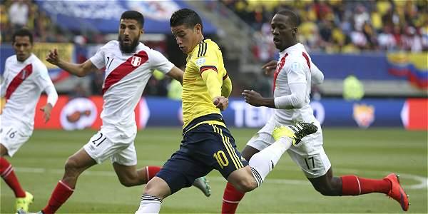 James Rodríguez contra Perú.