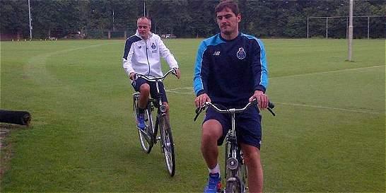 Iker Casillas realizó su primer entrenamiento con Porto