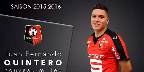 Juan Fernando Quintero es nuevo jugador de Rennes