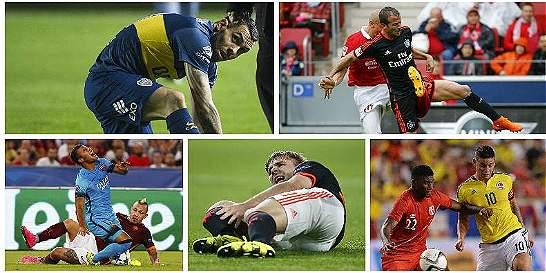 La entrada de Tévez a Ham y otras lesiones fuertes en este 2015