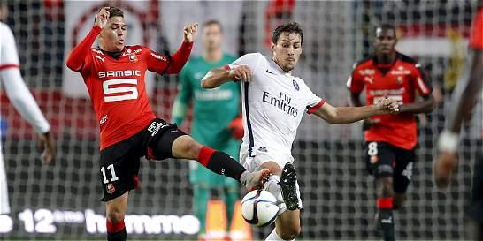 Quintero jugó 66 minutos con Rennes, que perdió 0-1 con PSG