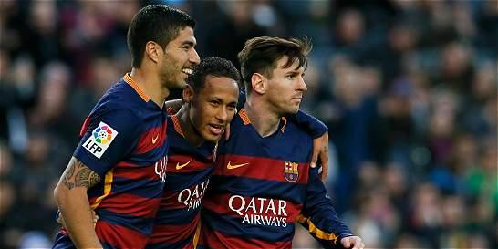 Messi, Neymar y Suárez le dan una nueva victoria al Barcelona