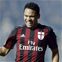 Carlos Bacca marcó un gol en el 2-4 de Milan contra el Frosinone