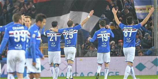 Con Carbonero y Muriel, Sampdoria venció 2-3 a Génova en la Serie A