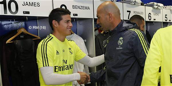Real Madrid niega que haya inconformidad del DT Zidane con James
