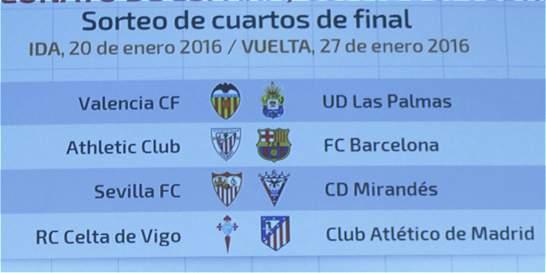 Athlétic y Barcelona reeditarán la pasada final de la Copa del Rey