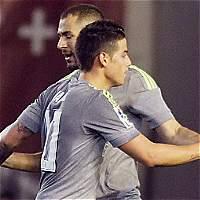James: fue titular e hizo pasegol en empate del Real Madrid