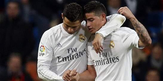 James hizo un golazo en el 6-0 del Real Madrid contra el RCD Espanyol.