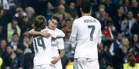 Luego de 84 días, James Rodríguez volvió al gol con Real Madrid
