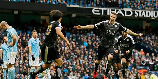 Leicester demostró que manda en la Premier: 1-3 contra Manchester City