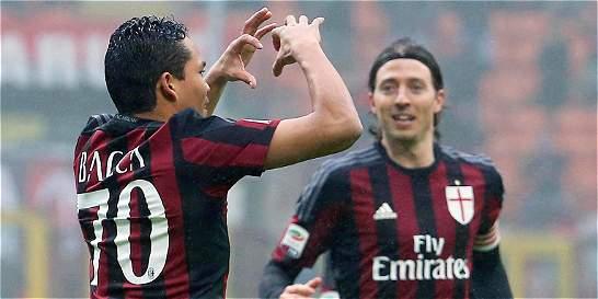 Bacca, intratable en Italia: anotó en el 2-1 de Milán contra Génova