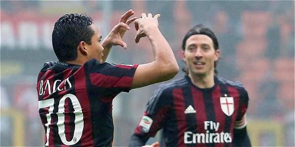 Bacca, imparable en Italia: anotó en el 2-1 de Milán contra Génova