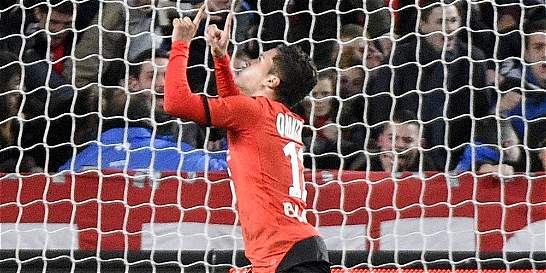 Las críticas del DT del Rennes a Juan Fernando Quintero