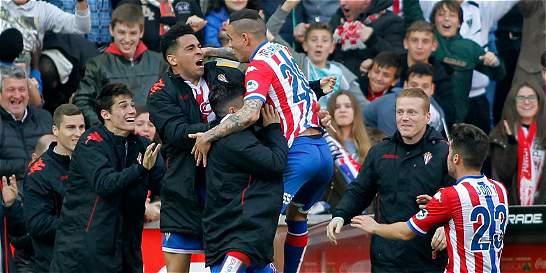 Atlético de Madrid también se bajó de la Liga: perdió 2-1 con Sporting