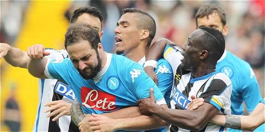Duro golpe para Nápoles: Gonzalo Higuaín, suspendido cuatro fechas