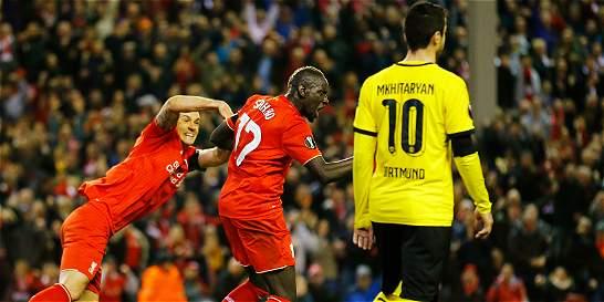 En el partidazo del año: Liverpool sacó al Dortmund de Europa League