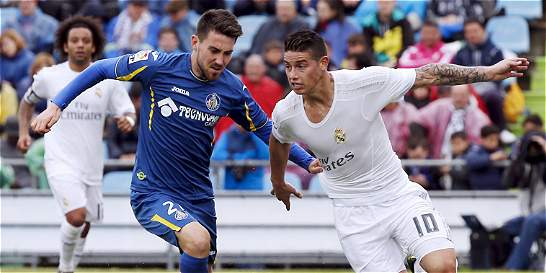 James anotó en la victoria de Real Madrid 1-5 sobre Getafe