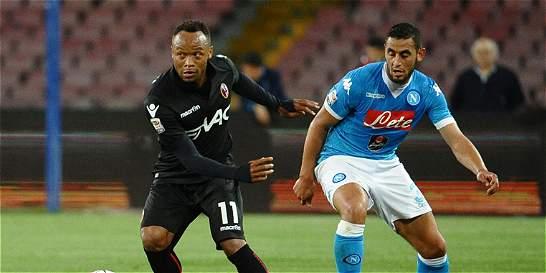 Nápoles goleó 6-0 a Bologna, que contó con Camilo Zúñiga