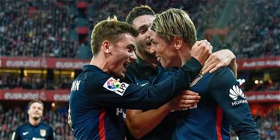 Atlético de Madrid venció 0-1 al Bilbao y no le da tregua al Barça