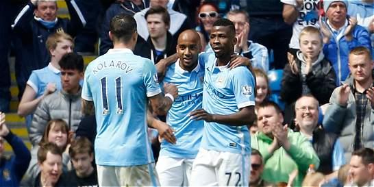 Manchester City goleó 4-0 al Stoke y es tercero provisionalmente