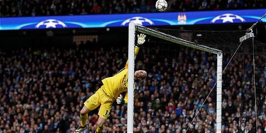 Joe Hart, fue el mejor del Manchester City contra Real Madrid