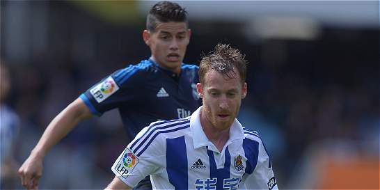 James jugó 72 minutos en la victoria 0-1 del Real Madrid a R. Sociedad