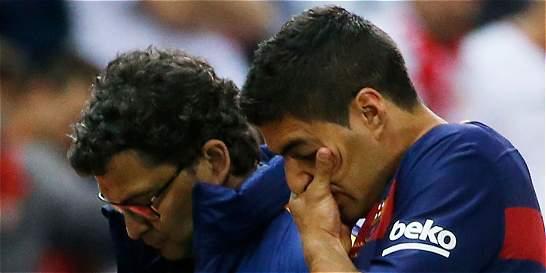 Pruebas médicas confirmaron una lesión muscular a Luis Suárez