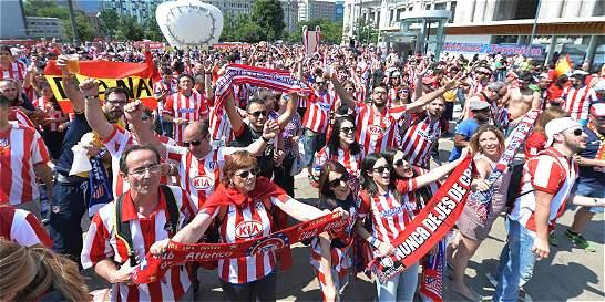 'Nunca dejes de creer', canto de hinchas del Atlético en la Champions