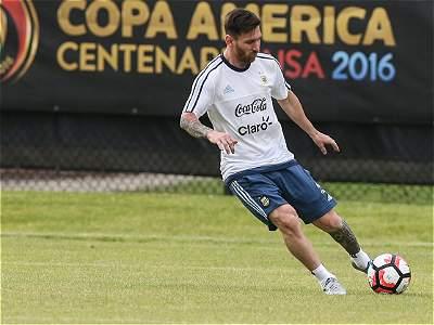 Messi se ve completamente recuperado para los cuartos contra Venezuela