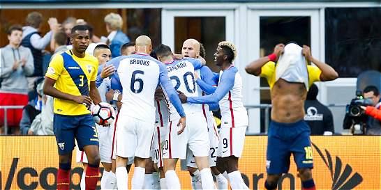 Estados Unidos venció 2-1 a Ecuador y está en 'semis' de la Copa