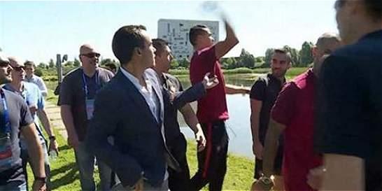 En video: la furia de Cristiano Ronaldo contra un periodista