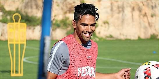Radamel Falcao hizo gol en su primer entrenamiento con Mónaco
