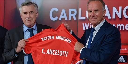 Carlo Ancelotti fue presentado como nuevo DT del Bayern Múnich