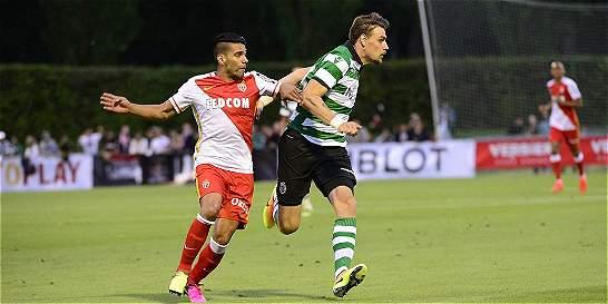 Falcao anotó un doblete en la victoria de Mónaco sobre Sporting
