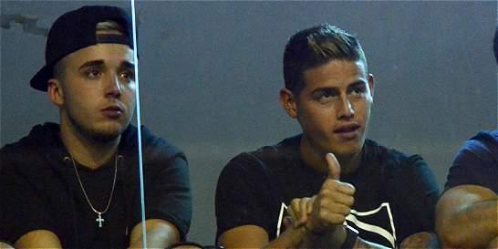Mientras vuelve al Real Madrid, James Rodríguez ve jugar a Envigado