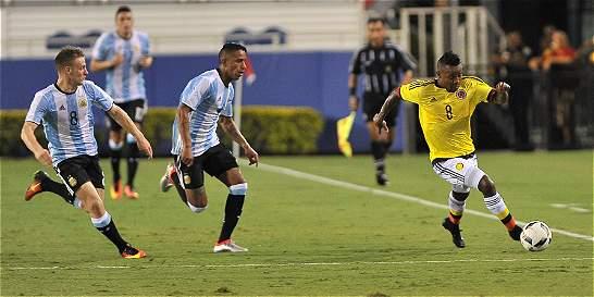 En amistoso previo a los Olímpicos, Colombia igualó 0-0 con Argentina