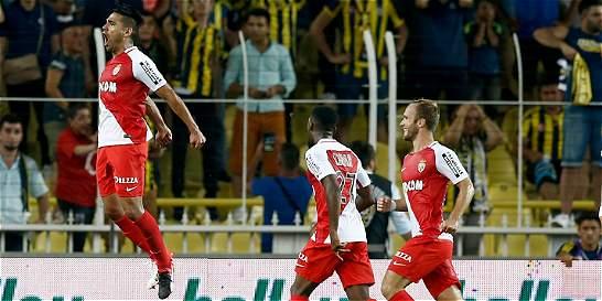 Falcao García anotó en la derrota de Mónaco 2-1 contra Fenerbahce
