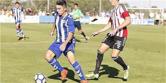 Daniel Torres jugó sus primeros 45 minutos con Alavés