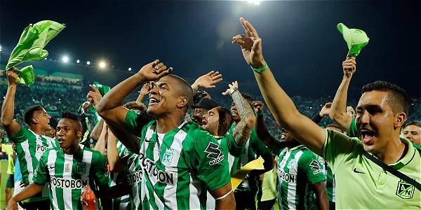 Los jugadores de Atlético Nacional celebran el título de la Copa Libertadores.