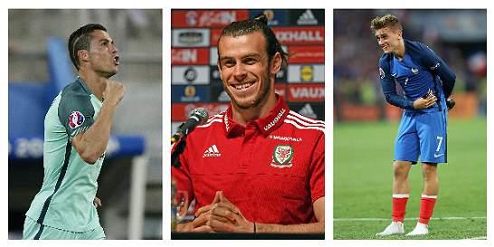 Bale, Cristiano y Griezmann, nominados a mejor jugador Uefa