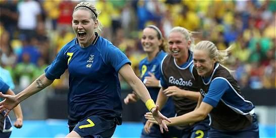 Suecia dio el golpe: eliminó a Brasil del fútbol femenino