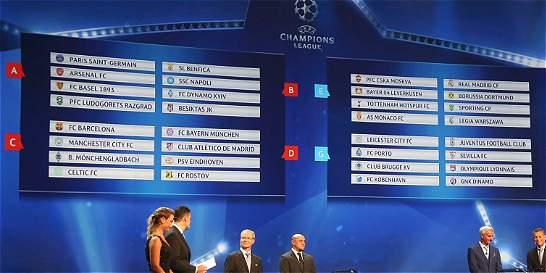 Así quedaron conformados los grupos de la Liga de Campeones