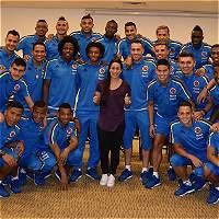 Mariana Pajón acompañó a la Selección Colombia en la concentración