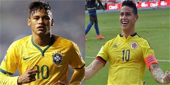 Neymar vs. James, duelo de estrellas en Manaos