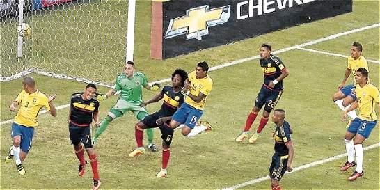 Jeison Murillo volvió a perder en la derrota de la Selección Colombia