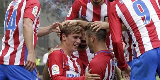 Atlético goleó 0-4 a Celta y logró su primer triunfo en la Liga